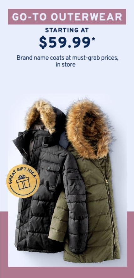 Coats Starting at $59.99 from Marshalls