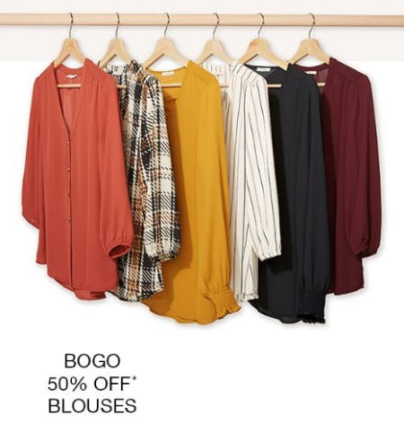 BOGO 50% Off Blouses from maurices