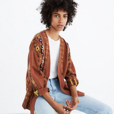 Kimono Shirttail Jacket