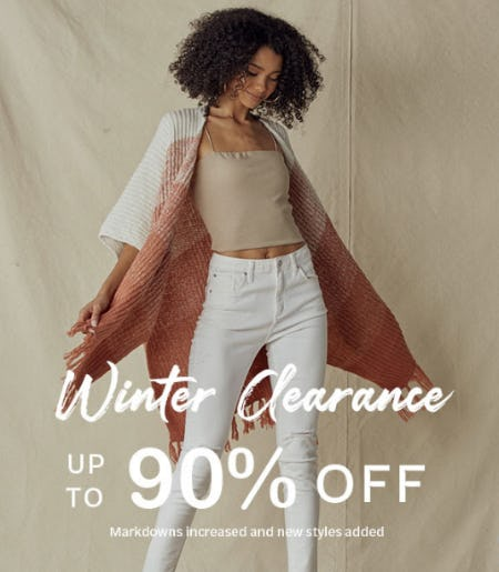 Winter Clearance: Up to 90% Off from Papaya