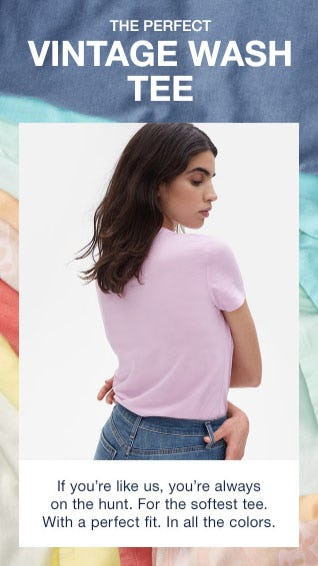 The Perfect Vintage Wash Tee from Gap
