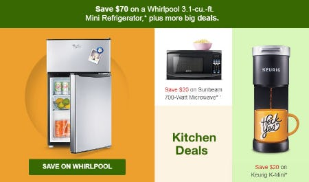Save $70 on Wirlpool 3.1-cu.-ft. Mini Refrigerator from Target