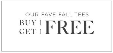 Our Fave Fall Tees Buy 1, Get 1 Free from Lane Bryant