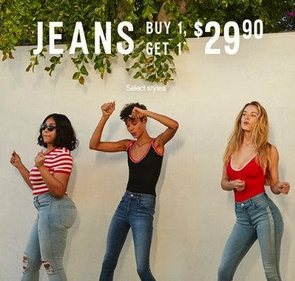 Jeans Buy 1, Get 1 $29.90 from Express