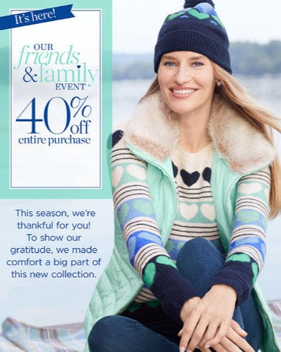40% Off Entire Purchase from Talbots