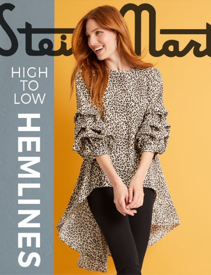 New Dramatic Hemlines in Animal Print from Stein Mart