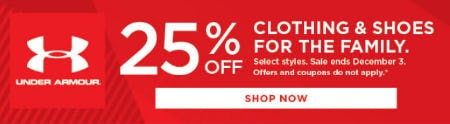 25% Off Clothing & Shoes