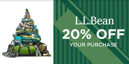 20% Off Your Purchase from L.L. Bean