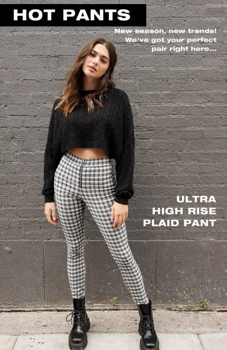 Ultra High Rise Plaid Pant from Garage