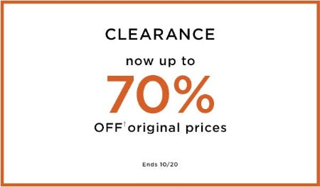 Clearance Now Up to 70% Off