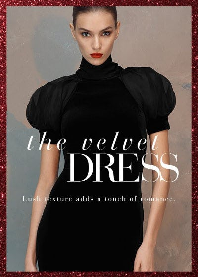 The Velvet Dress from Saks Fifth Avenue