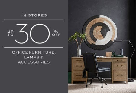 Up to 30% Off Office Furniture & More from Pottery Barn