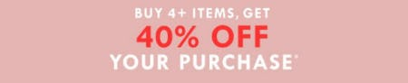 Buy 4 + Items, Get 40% Off Your Purchase from J.Crew