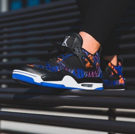Air Jordan Retro 4 Rush Violet from DTLR