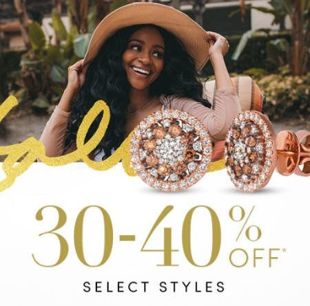 30-40% Off Select Styles from Jared Galleria of Jewelry