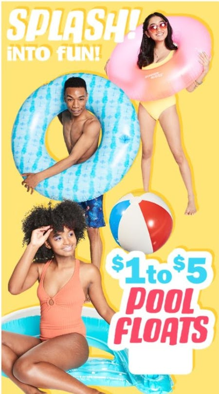 $1 to $5 Pool Floats from Five Below