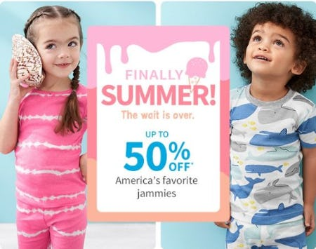 Up to 50% Off America's Favorite Jammies from Carter's
