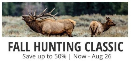 Fall Hunting Classic: Up to 50% Off from Cabela's