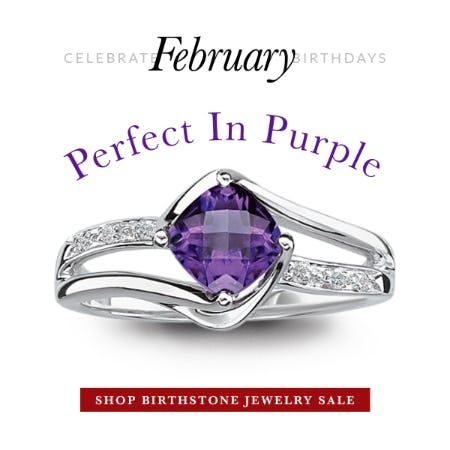 February Birthstone Jewelry Sale 30% OFF from Rogers & Hollands Jewelers