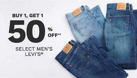 BOGO 50% Off Select Men's Levi's from Belk