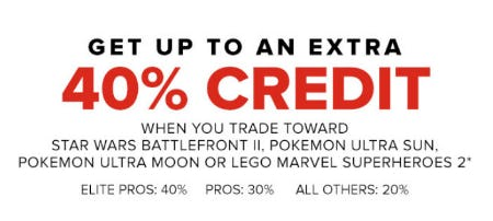 Up to an Extra 40% Credit