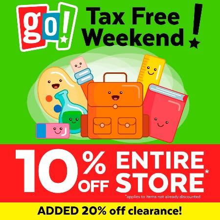 Tax FREE Weekend Savings!