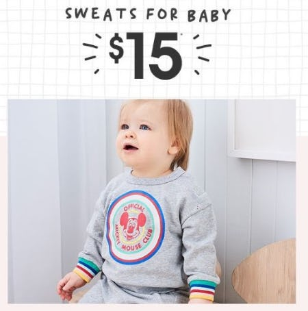 $15 Sweats for Baby from Cotton On
