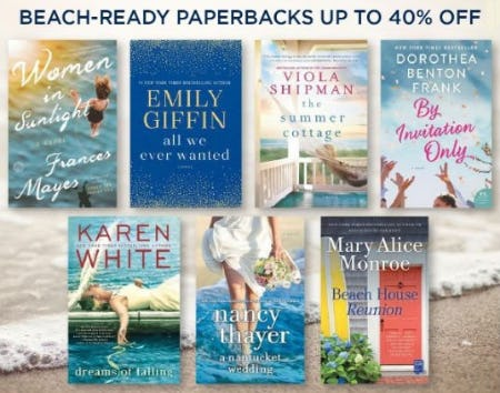 Up to 40% Off Beach-Ready Paperbacks from Books-A-Million