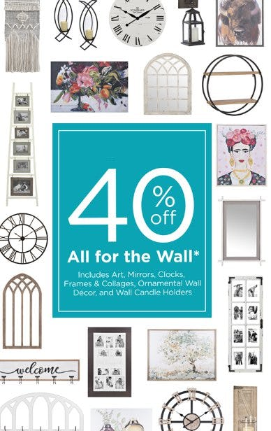40% Off All for the Wall from Kirkland's Home