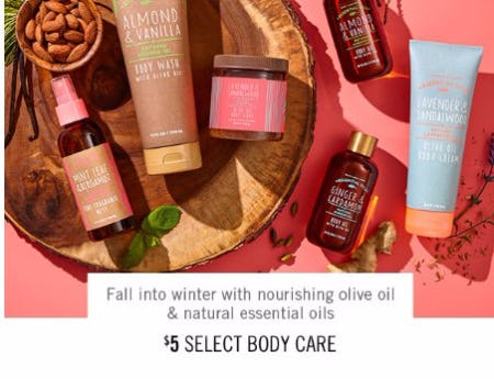 $5 Select Body Care