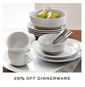 25% Off Dinnerware from Pottery Barn