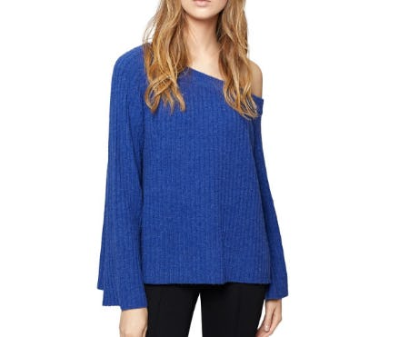 Sanctuary Aurelia One-Shoulder Rib-Knit Sweater from Bloomingdale's
