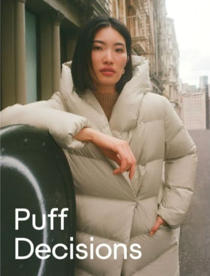 Puffers for Winter from Aritzia