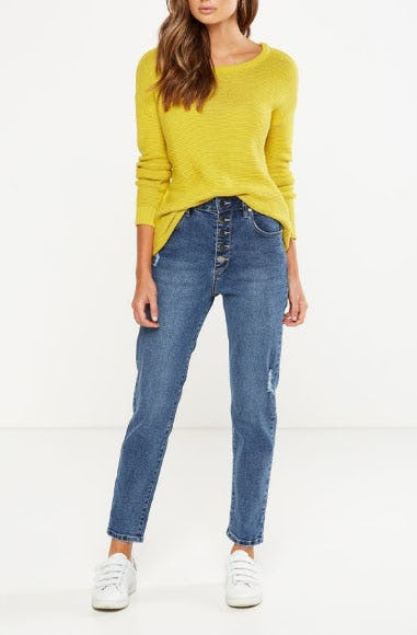 High Rise 90S Stretch Jean from Cotton On