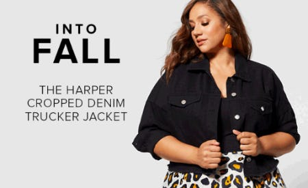 The Harper Cropped Denim Trucker Jacket from Fashion To Figure