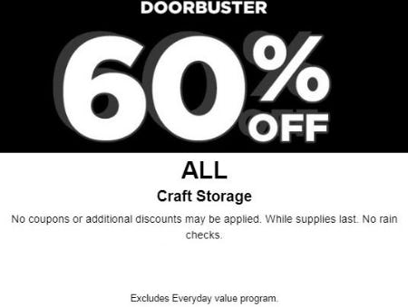 60% Off All Craft Storage from Michaels