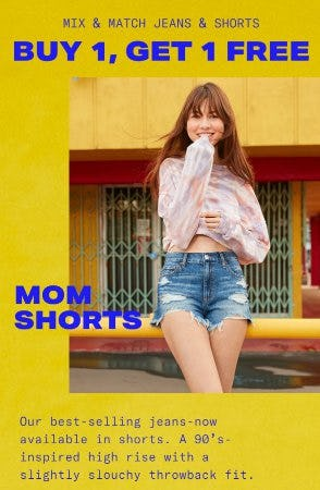 Mix & Match Jeans & Shorts Buy 1, Get 1 Free