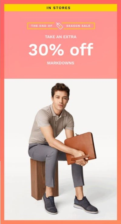 Extra 30% Off Markdowns from Cole Haan