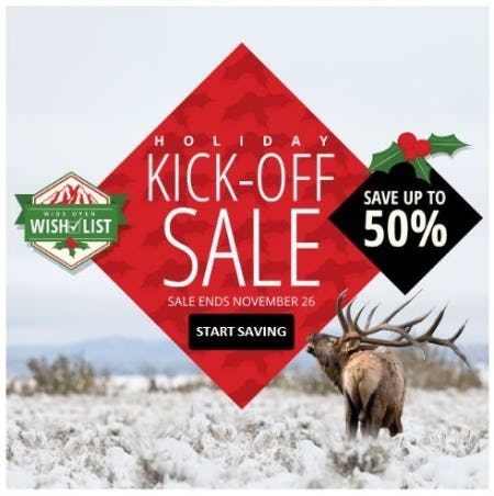 Holiday Kick-Off Sale: Up to 50% Off