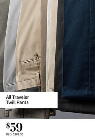 All Traveler Twill Pants $59 from Jos. A. Bank