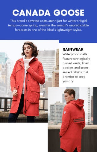 Spring Essentials from Canada Goose from Bloomingdale's