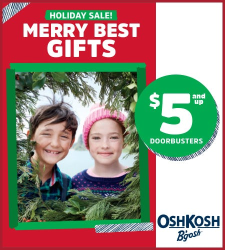 $5 and up Doorbusters from Oshkosh B'gosh