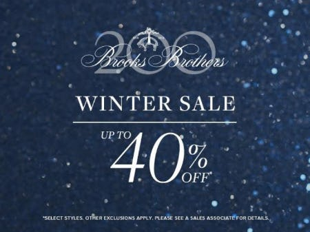 Winter Sale up to 40% Off from Brooks Brothers
