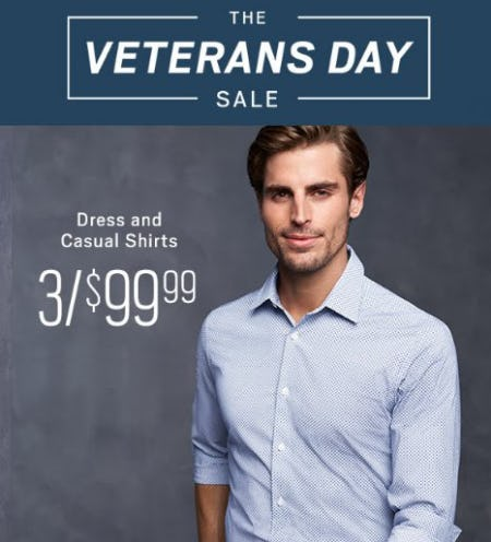 Dress and Casual Shirts 3 for $99.99 from Men's Wearhouse