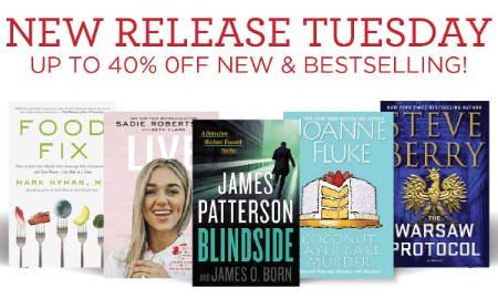 Up to 40% Off on New Releases & Bestselling from Books-A-Million