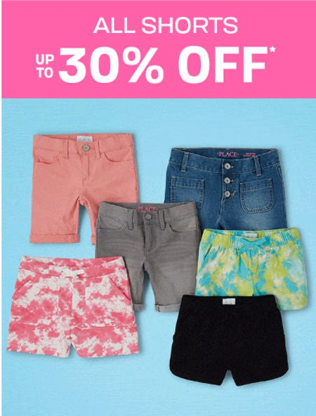 All Shorts up to 30% Off from The Children's Place