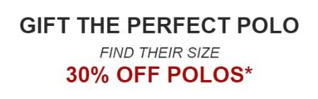 30% Off Polos