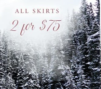 2 for $75 All Skirts from Altar'd State