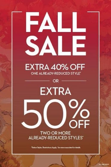 FALL SALE EXTRA 40% OFF ONE REDUCED STYLE