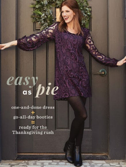 New Arrivals: Your Thanksgiving Day Look from Evereve